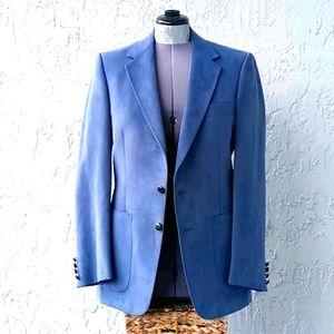 Aquascutum of London Men's Blue Aqua Suede